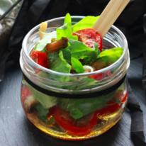 Салат с грибами и ароматным маслом 100г