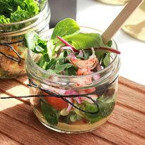 Салат из раков с горчичным соусом 90г