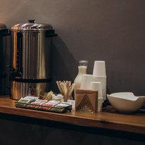 Кофе свежесваренный из термопота 150мл, молоко, сахар