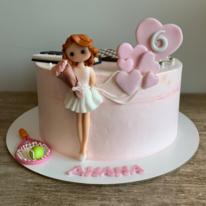 Торт Девочка с шариками 1,5 кг