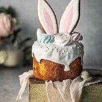 Кулич Кролик с начинкой клюква-апельсин