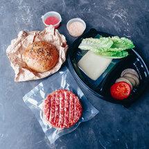 Заготовка для бургера с котлетой из говядины
