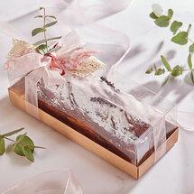 Кекс с малиной и карамелью