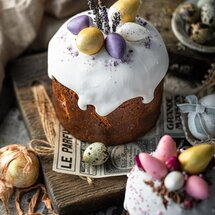 Кулич Пасхальные яйца с начинкой клюква-апельсин большой
