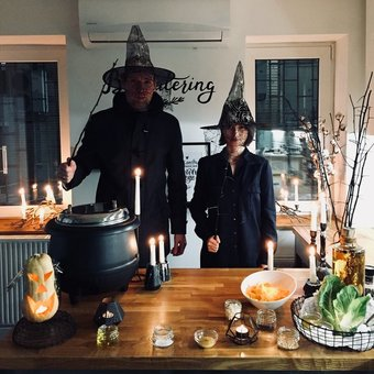 Салат с тыквой на Хэллоуин