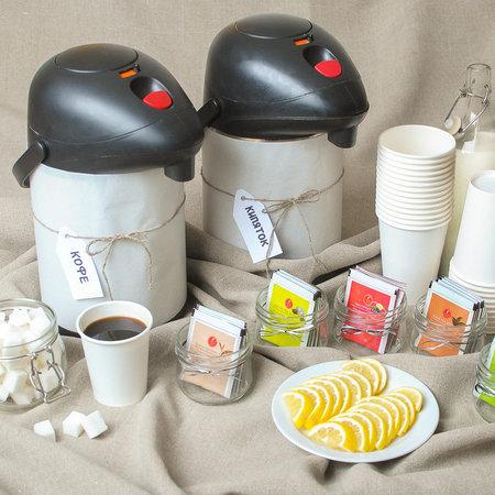 Чай, кофе, сахар, молоко, лимон