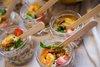 Салат с кускусом, томатами и креветкой
