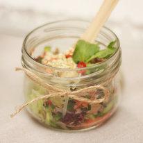 Острый салат с говядиной и тайским соусом